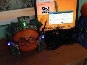 Pure pumpkin cyber evil